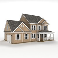3d two-story house siding