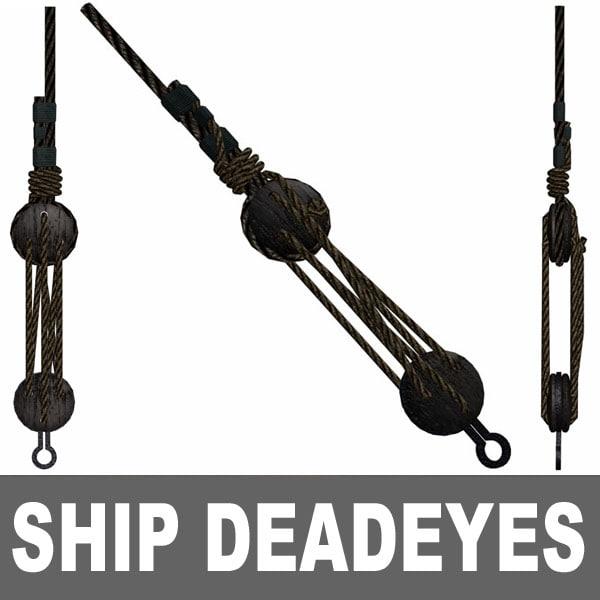 ship deadeyes 3d model
