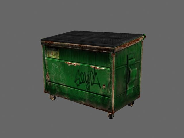 3ds max ready dumpster