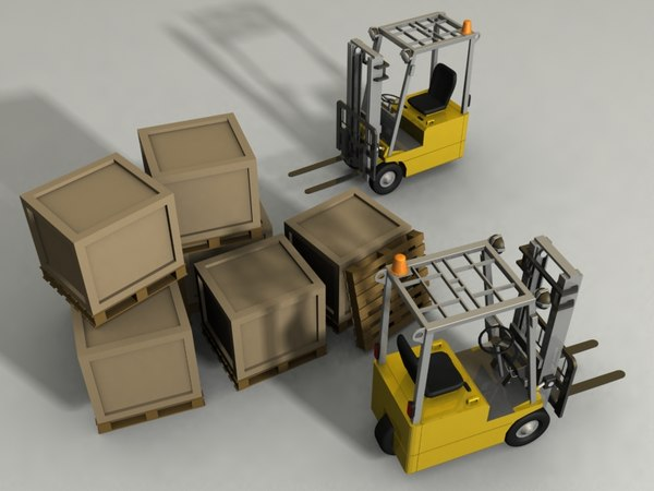 max forklift boxes pallet