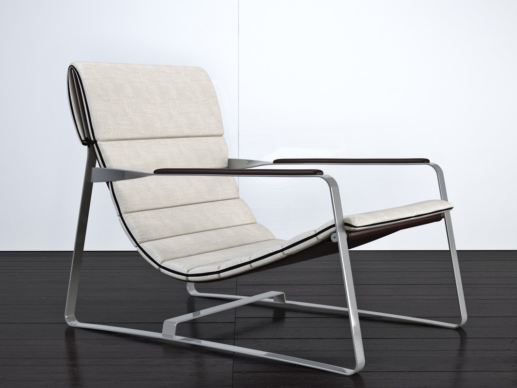 minotti hopper loungechair 3d model