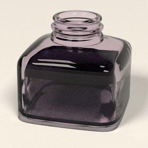 3d ink pot inkpot