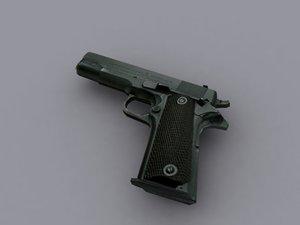 3d model weapon pistol m1911