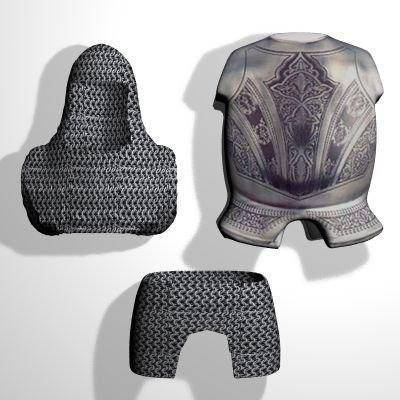 set medieval helmets armor 3d 3ds