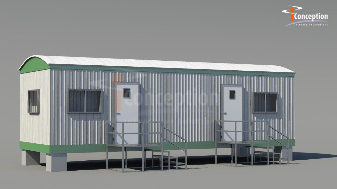 3d model office trailer