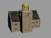 3d old church model