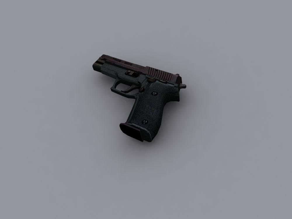 3d p226 pistol model