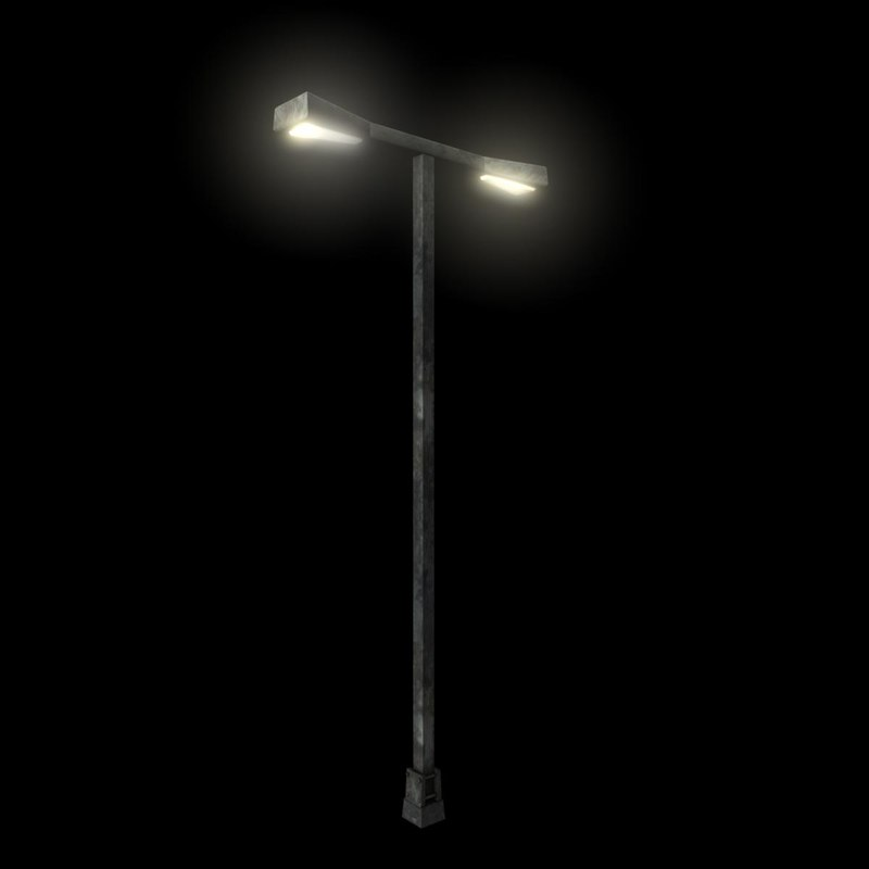 3ds max parking lot street lamp