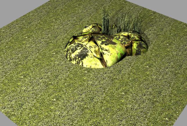 grass stones 3d model