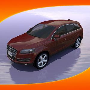 audi q7 car 3d model