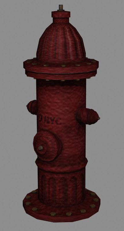 hydrant lod 3d model