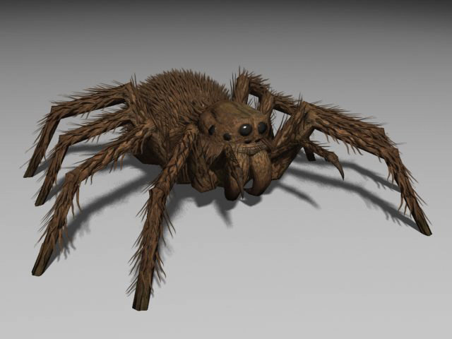 3d model of monster spider