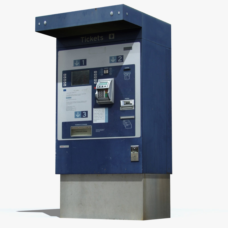 3d ticket machine