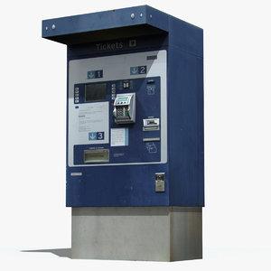 3d ticket machine