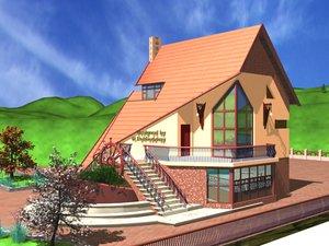 house landscape 3d model