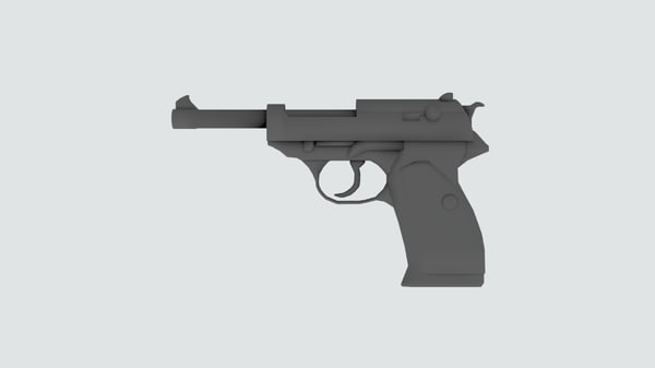 3d model walther p38 pistol