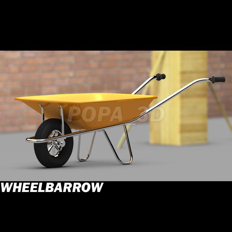 3d wheelbarrow materials model