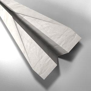 3d paper plane