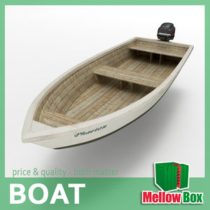 3ds max small boat 01