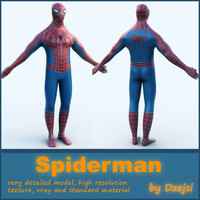 3d model spiderman character