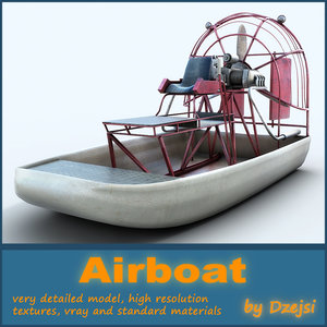 swamp airboat 3d model