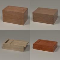 wooden boxes 3d 3ds