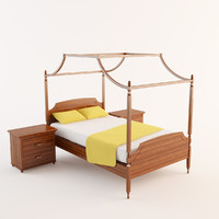 baldachin bed 3d max