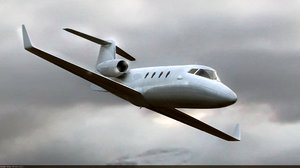 3dsmax jet bombardier learjet