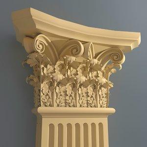 corinthian pilaster 3d model