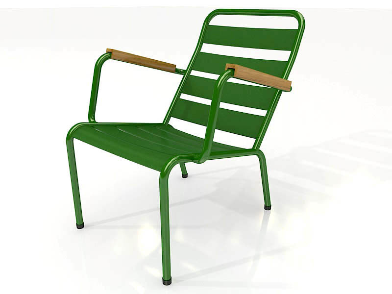 armchair park metal 3d model