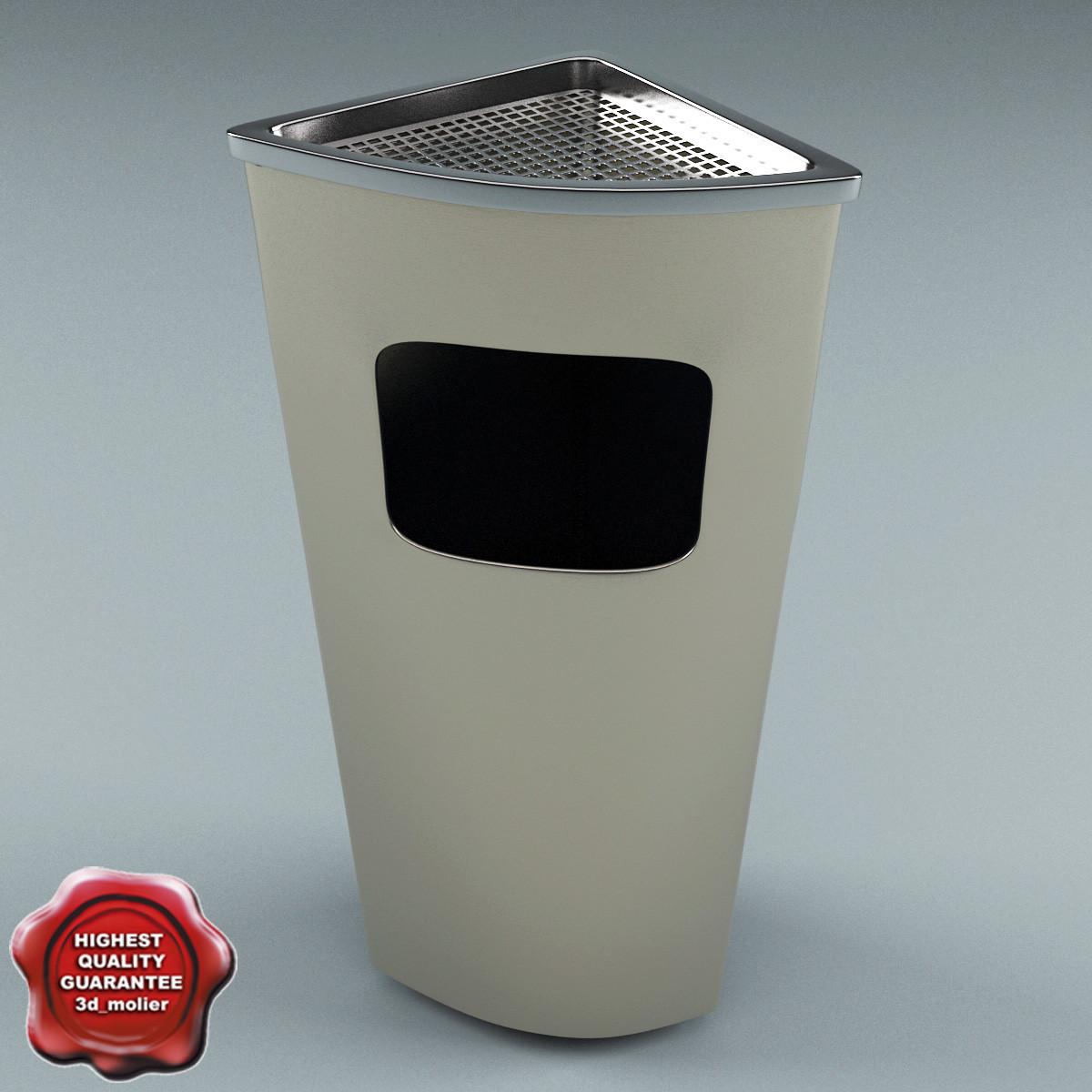 3ds max ashtray bin v3