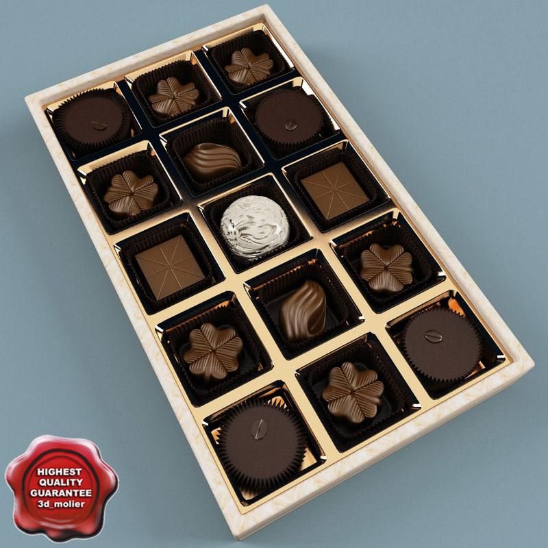 box chocolates 3d c4d