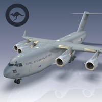 3d model c-17 globemaster raaf