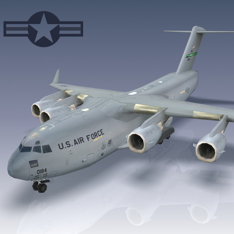 3ds c-17 globemaster transport usaf