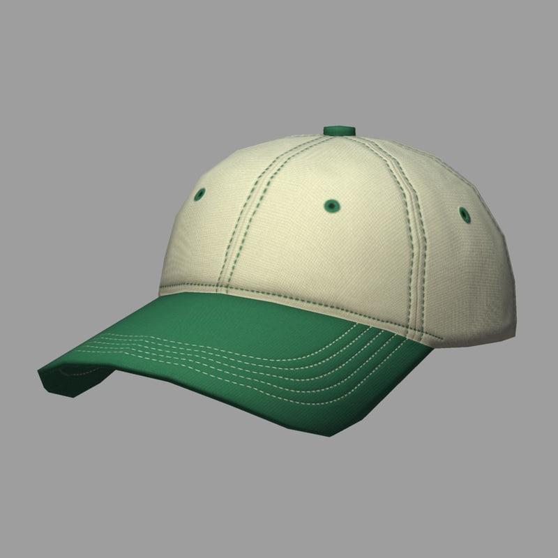 cap green 3d model