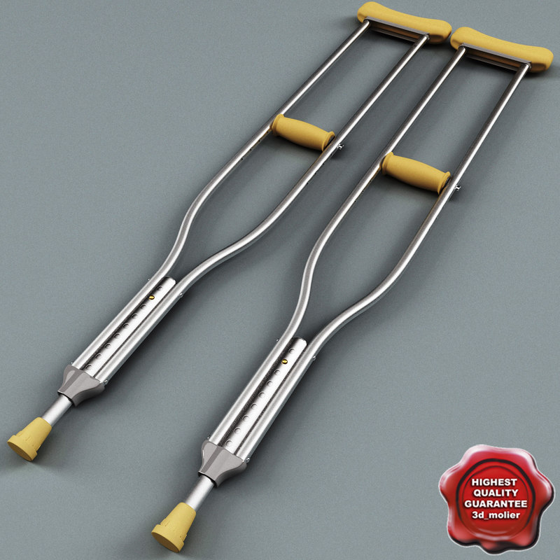 3d crutches modelled