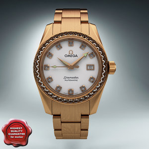 3d diamond watch omega seamaster model