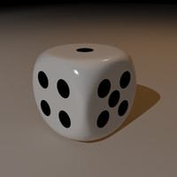 3d model of dice 6 sided