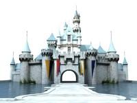 castle disneyland 3d model