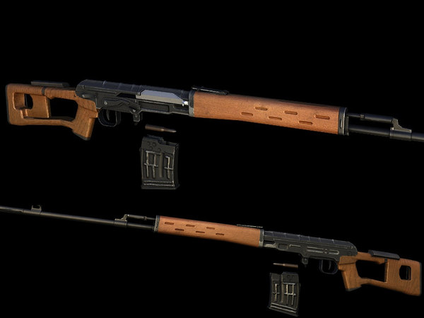 dragunov rifle 3d model