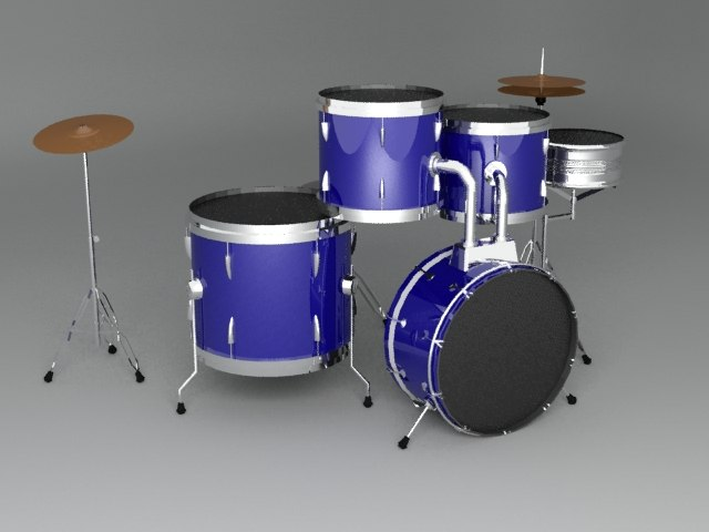 3ds max drum set