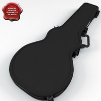3d electric guitar case v2 model