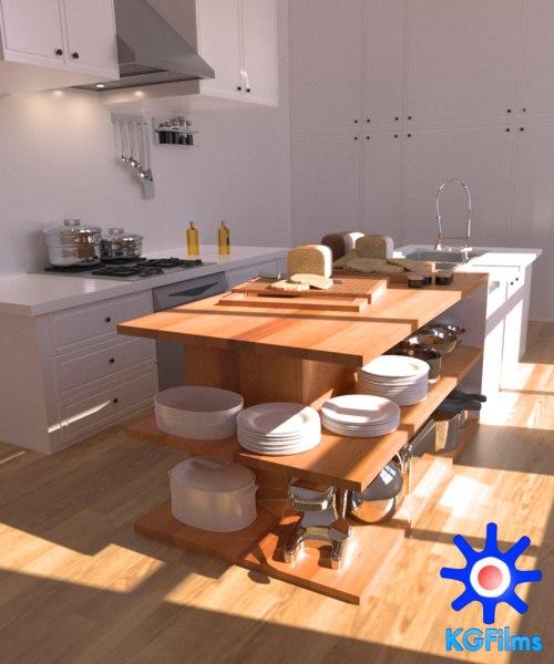 maya kitchen scene