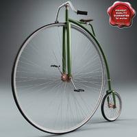 3d penny bike model