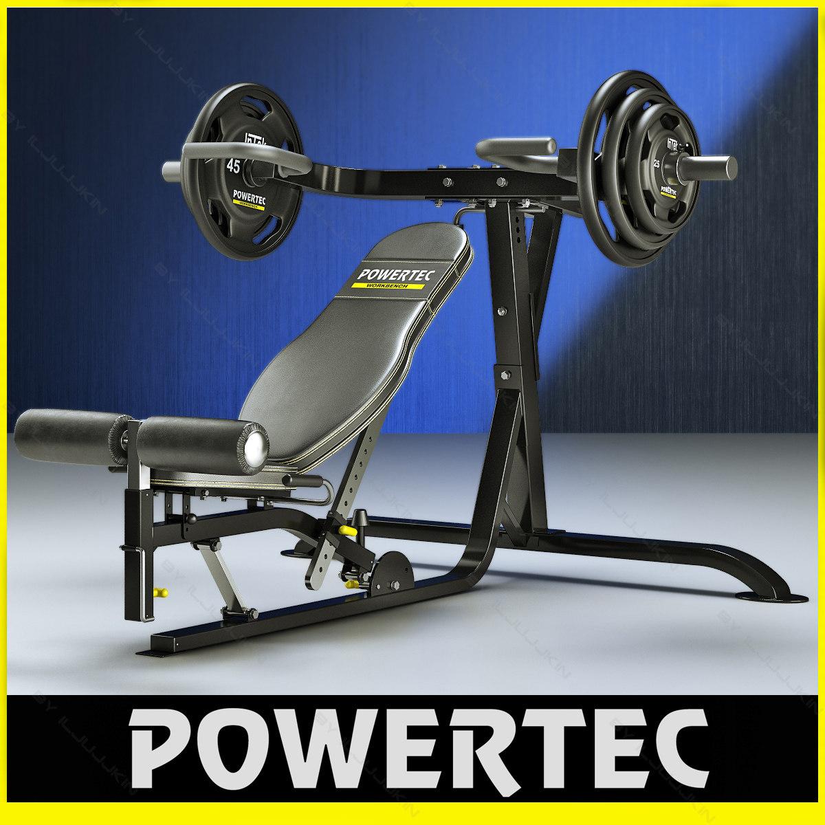 powertec l-mp10 multi press 3d model