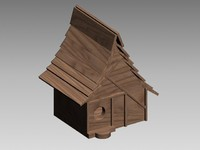 decorative quaint birdhouse 3d 3ds