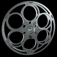 3d model classic film reel movie