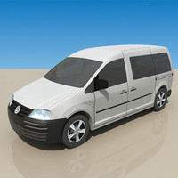 3d low-poly caddy tdi model