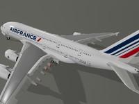 airbus a380-800 air france 3d max