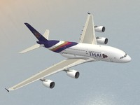 airbus a380-800 thai airways 3d 3ds